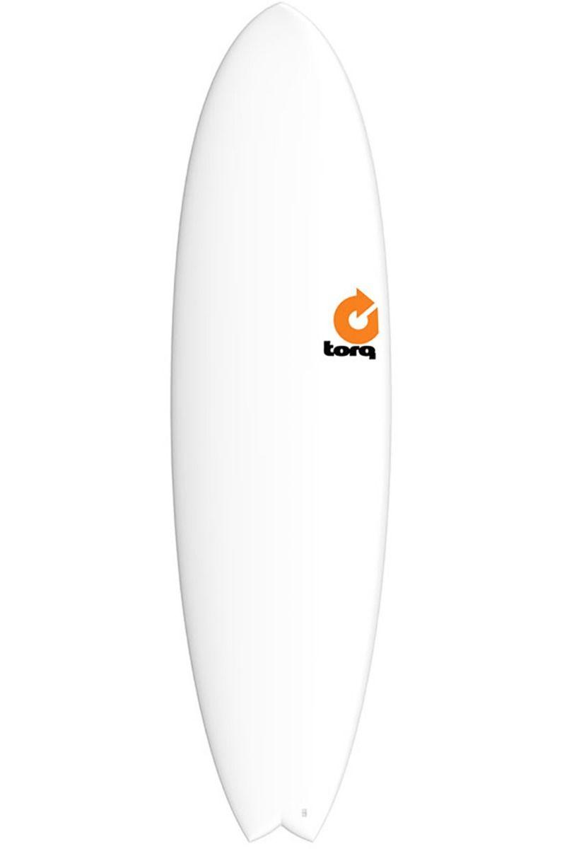 Prancha Surf Torq 5'11 MOD FISH WHITE Swallow Tail - White Futures Multisystem 5ft11