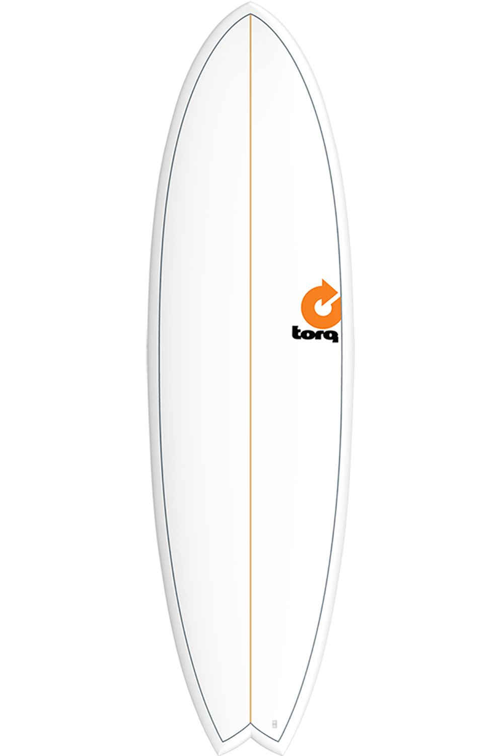 Torq Surf Board 7'2 MOD FISH WHITE + PINLINE Swallow Tail - White Futures Multisystem 7ft2