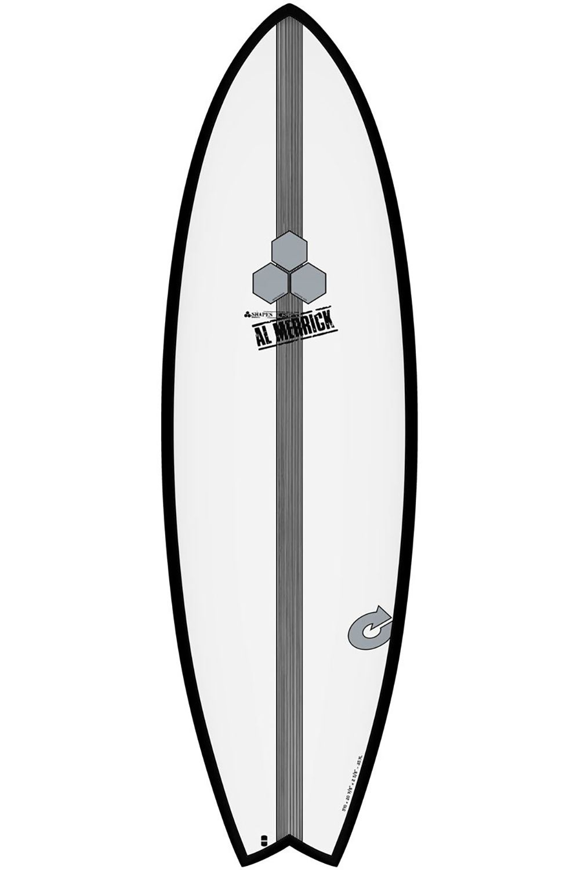 Torq Surf Board 5'10 POD MOD BLACK RAIL + PINLINE Swallow Tail - Color Futures Multisystem 5ft10