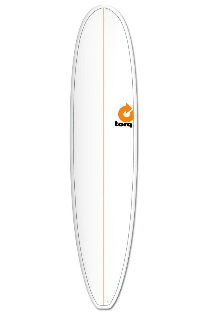 Prancha Surf Torq 8'0 MINI LONG WHITE + PINLINE Squash Tail - White Futures 8ft0