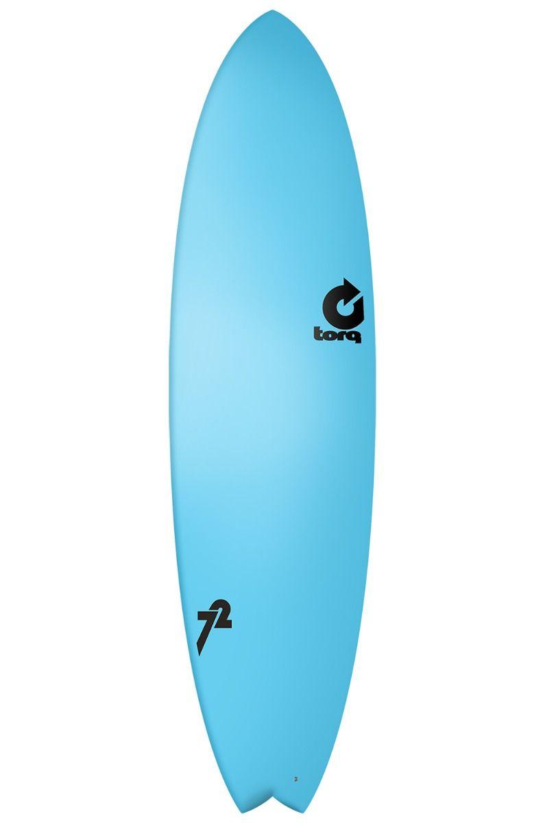 Prancha Surf Torq 7'2 MOD FISH BLUE SOFT DECK Swallow Tail - Color Futures Multisystem 7ft2