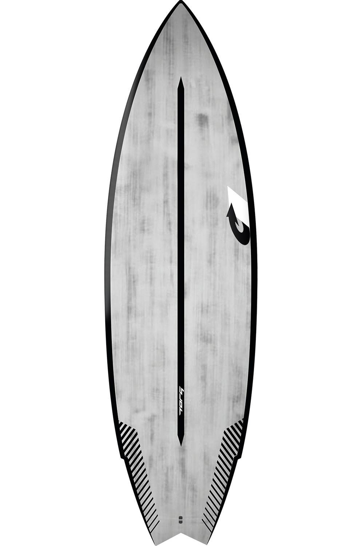 Prancha Surf Torq 6'2 GO-KART BLACK RAILS + BRUSHED GRAY Swallow Tail - Color Futures Multisystem 6ft2