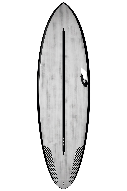 Prancha Surf Torq 5'8 MULTIPLIER BLACK RAILS + BRUSHED GRAY Round Tail - Color Futures Multisystem 5ft8