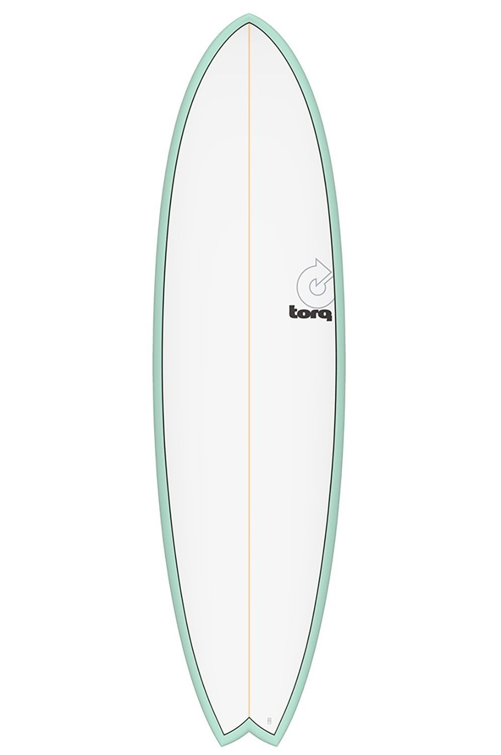Torq Surf Board 5'11 MOD FISH SEAGREEN + PINLINE Swallow Tail - Color Futures Multisystem 5ft11