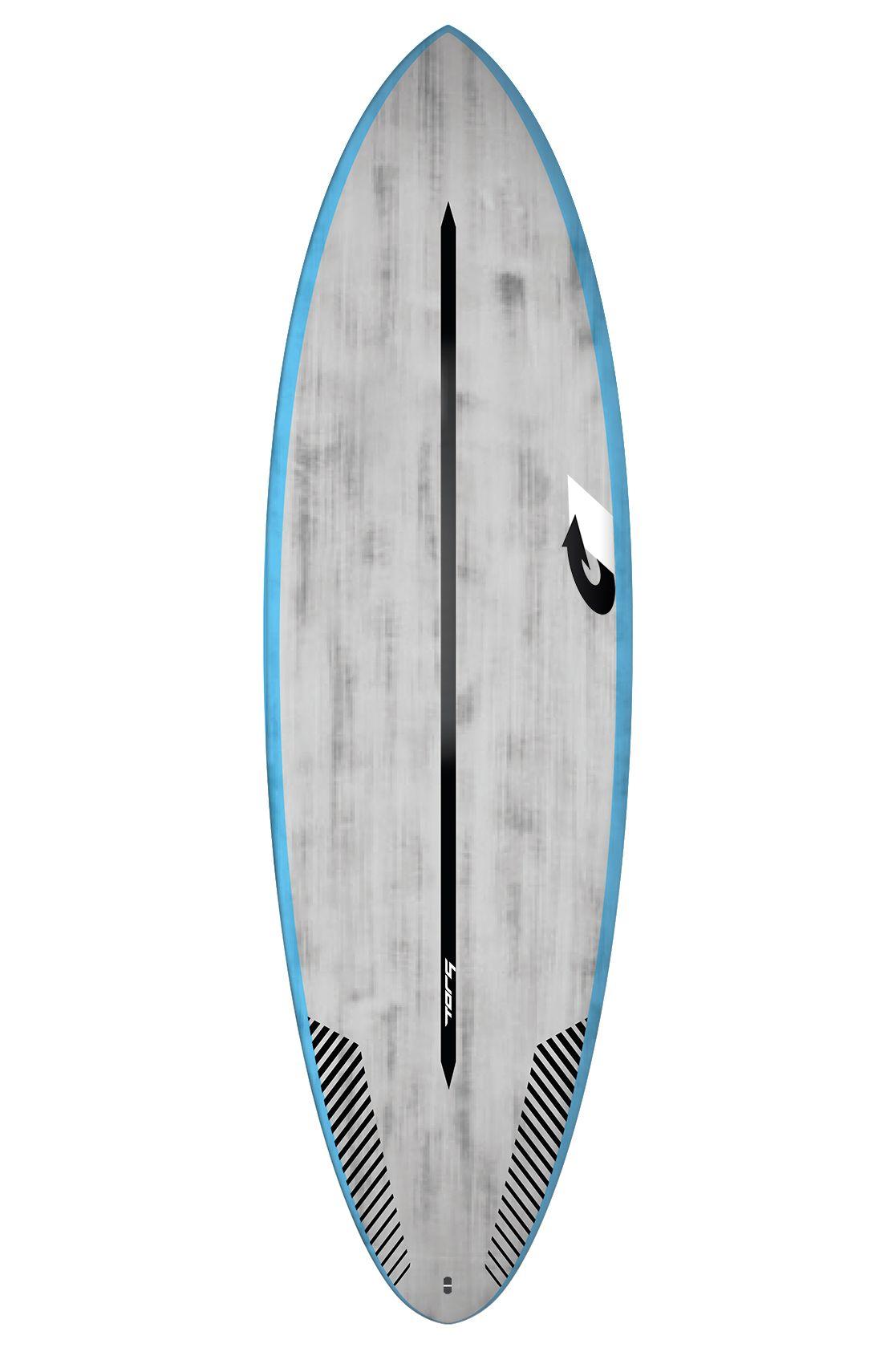 Prancha Surf Torq 7'2 BIGBOY 23 BLUE RAILS + BRUSHED GRAY Squash Tail - Color Futures Multisystem 7ft2