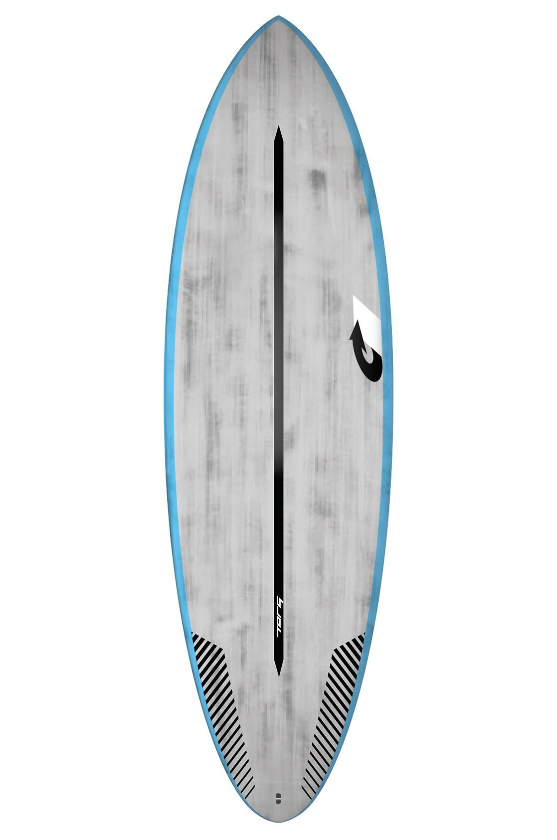 Prancha Surf Torq 6'4 MULTIPLIER BLUE RAILS + BRUSHED GRAY Round Tail - Color Futures Multisystem 6ft4