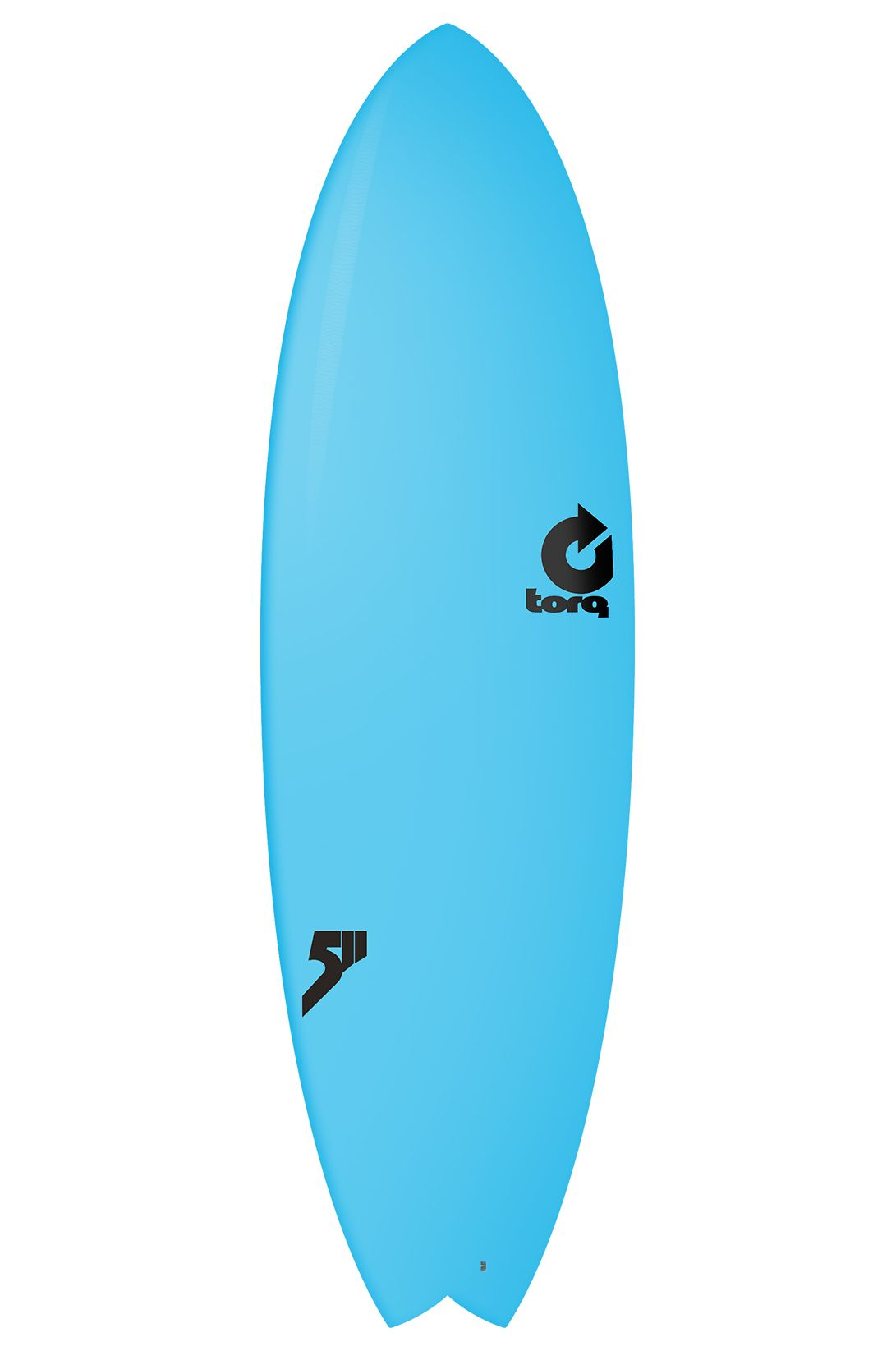 Torq Surf Board 5'11 MOD FISH BLUE SOFT DECK Swallow Tail - Color Futures Multisystem 5ft11