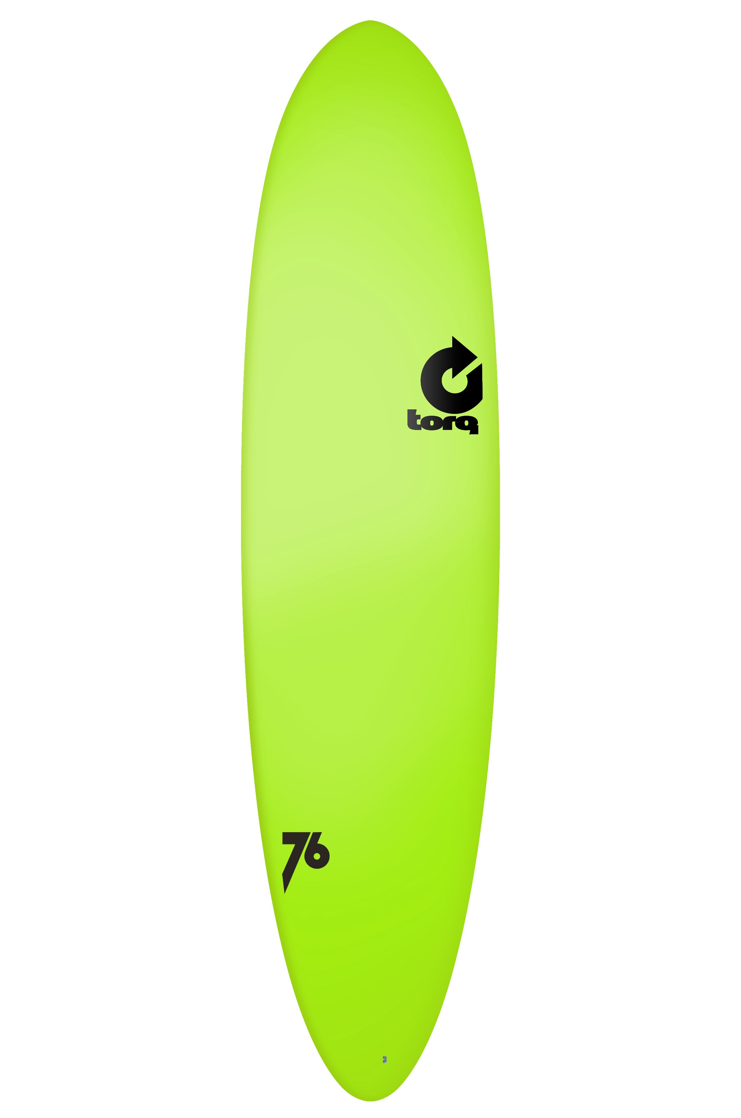 Torq Surf Board 7'6 MOD FUN GREEN SOFT DECK Round Pin Tail - Color Futures 7ft6