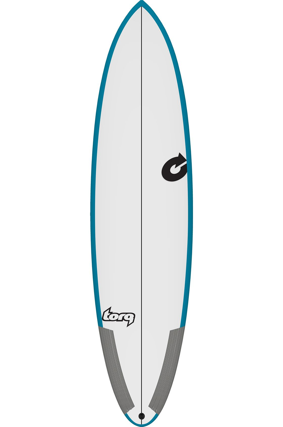 Torq Surf Board 7'0 M2-S TEAL/WHITE Round Tail - Color Futures Multisystem 7ft0