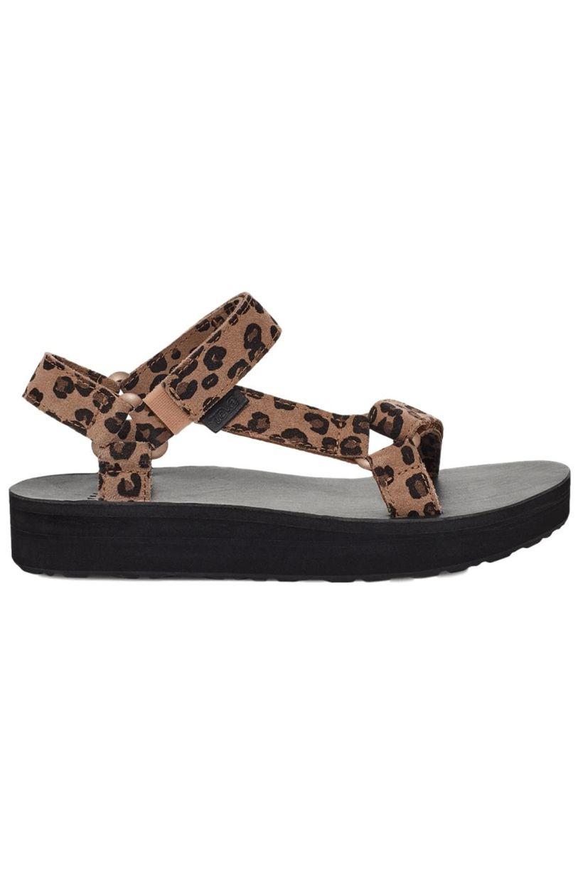 Teva Sandals MIDFORM UNIV LEOPARD Leopard Black