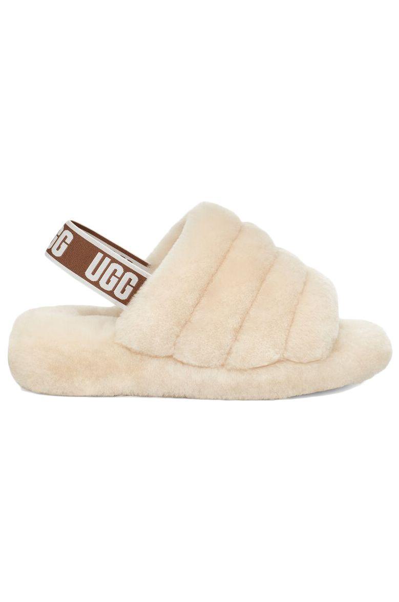 Ugg Sandals FLUFF YEAH SLIDE Natural