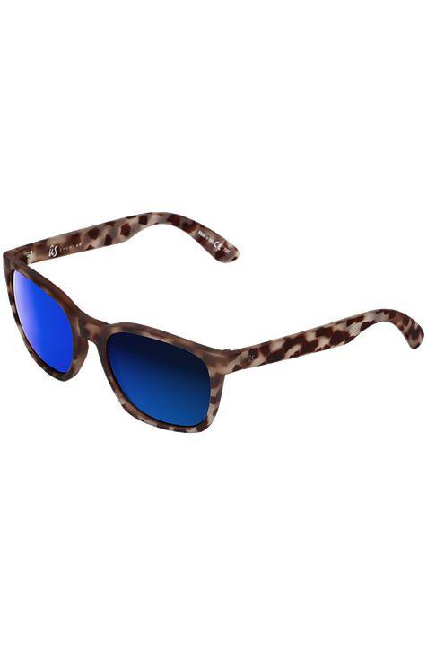US Sunglasses BARYS Matte Vintage Tort/Grey Blue Chrome