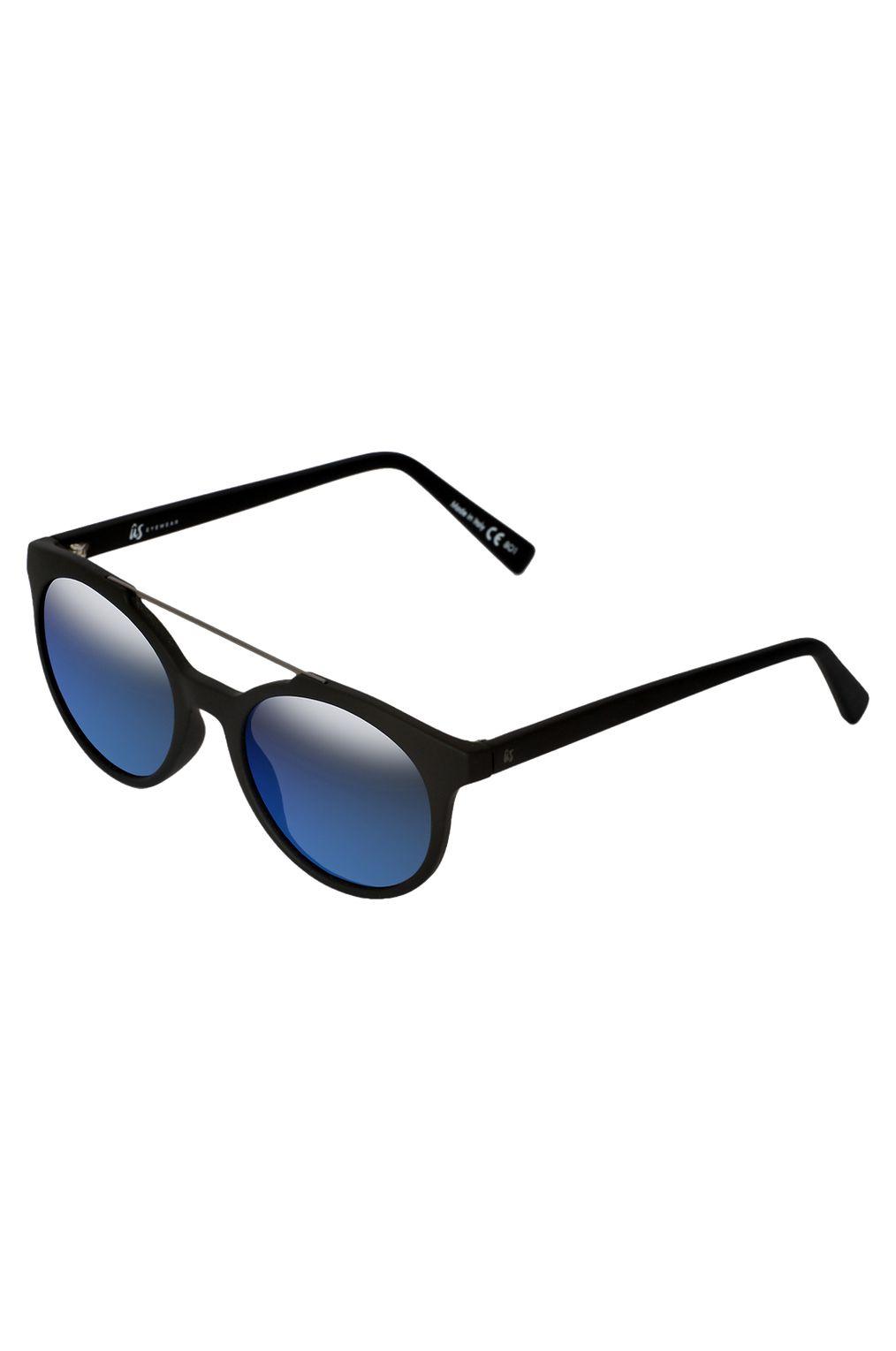 US Sunglasses CALIX Matte Black/Grey Blue Chrome