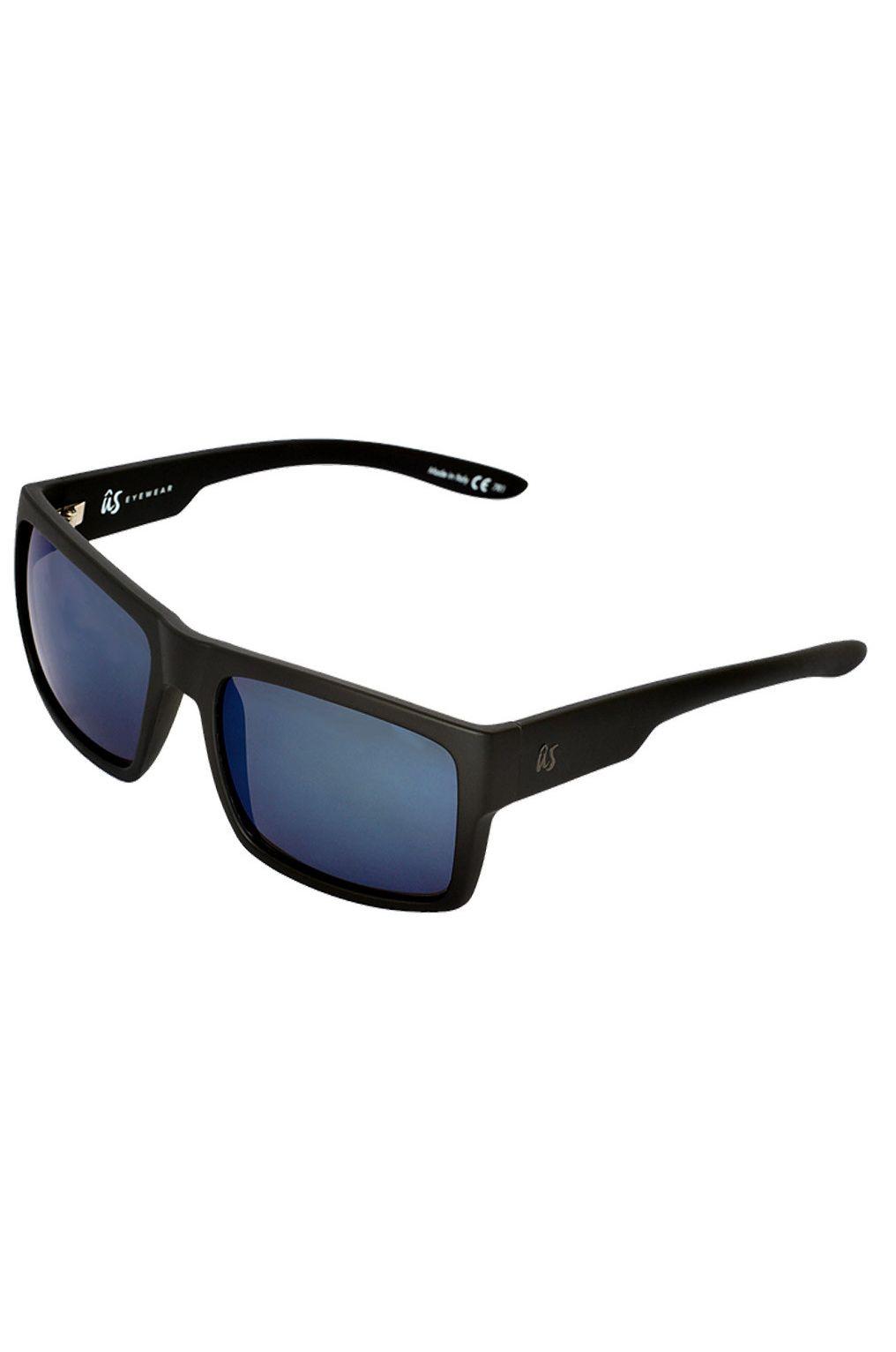 US Sunglasses HELIOS Matte Black/Grey Blue Chrome