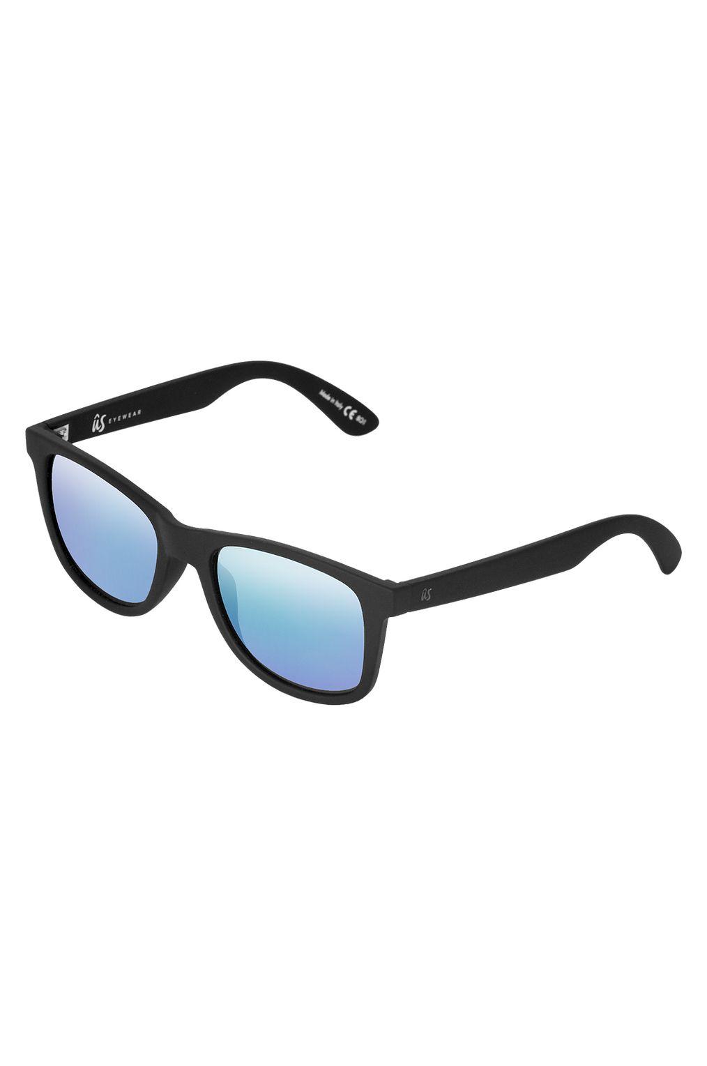 US Sunglasses MATY Matte Black/Grey Blue Chrome