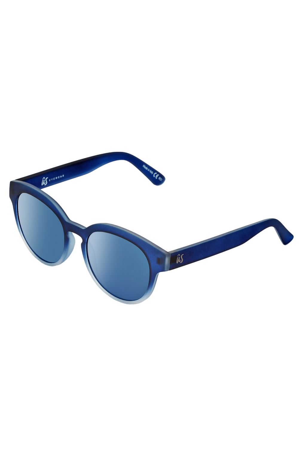 US Sunglasses NATHI Matte Blue Fade To Crystal/Grey Blue Chrome