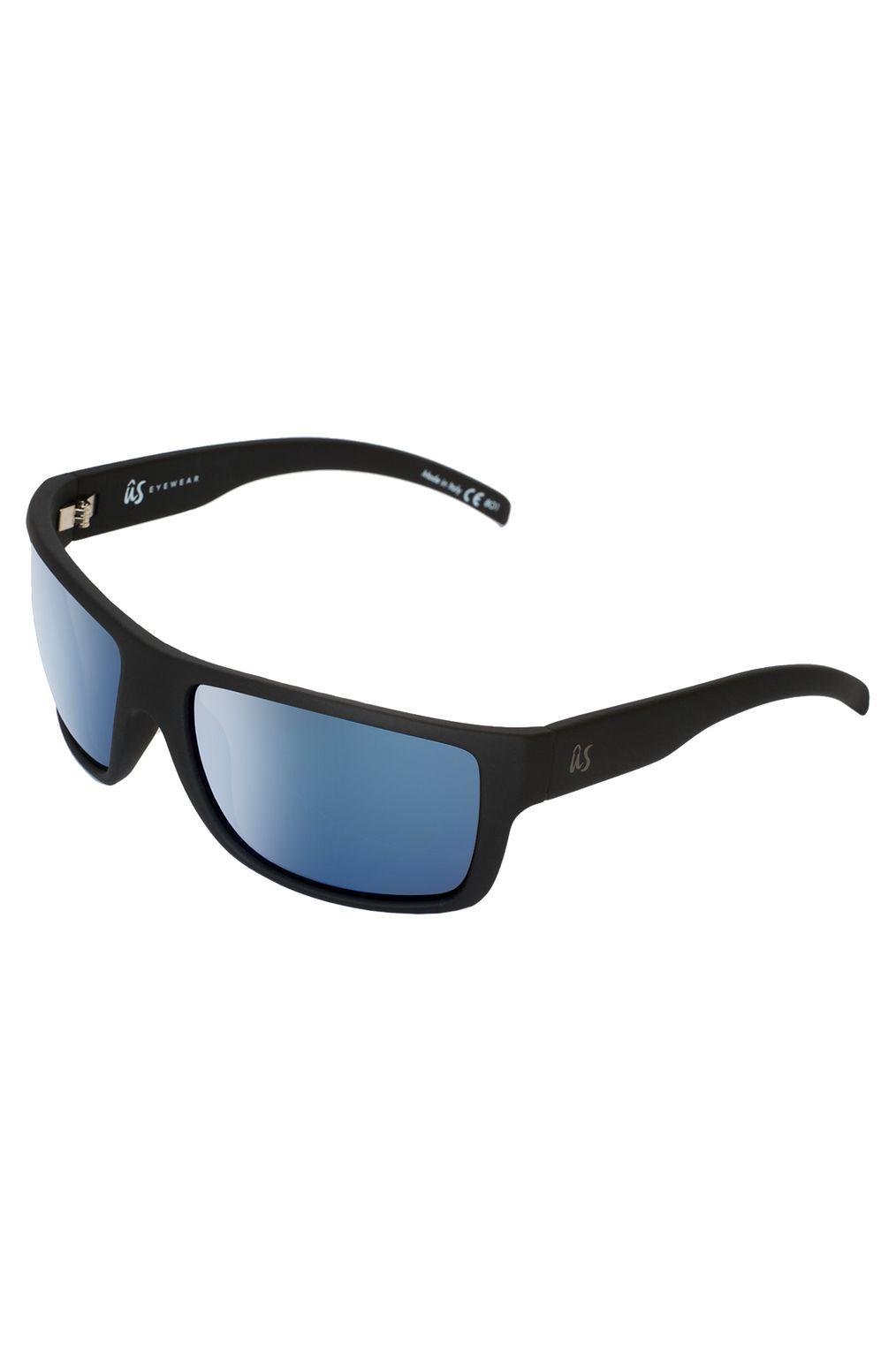 US Sunglasses TATOU Matte Black/Grey Blue Chrome