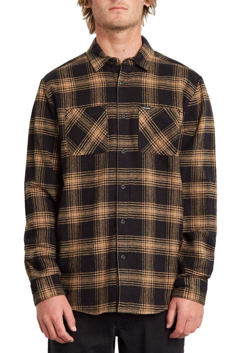 Camisa Volcom TONE STONE L/S Black