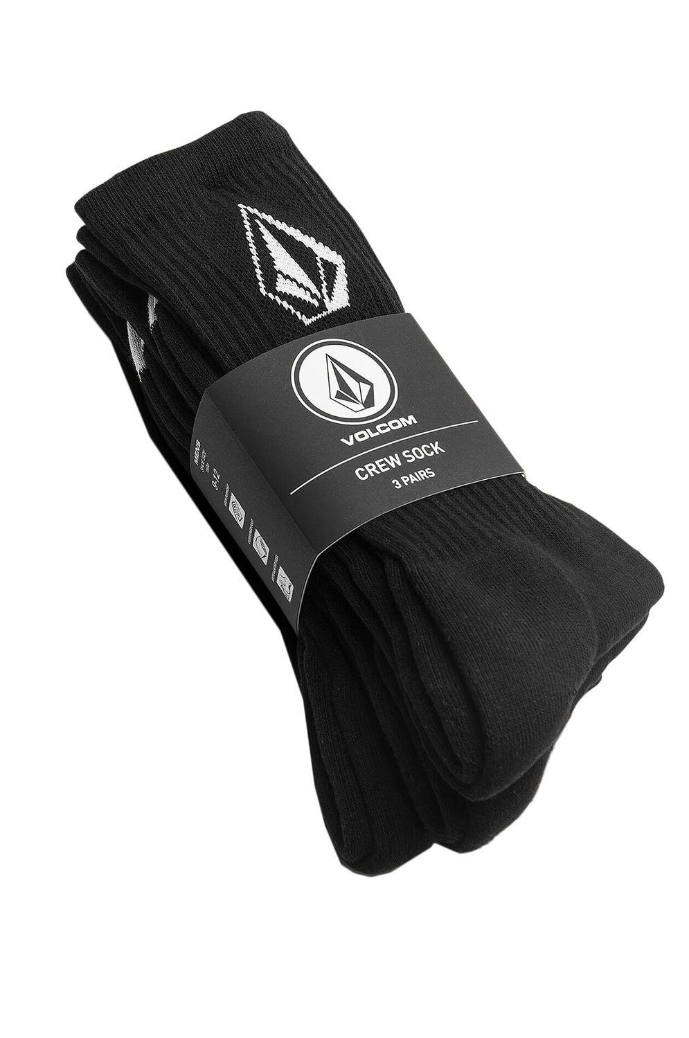 Volcom Socks FULL STONE 3PK Black