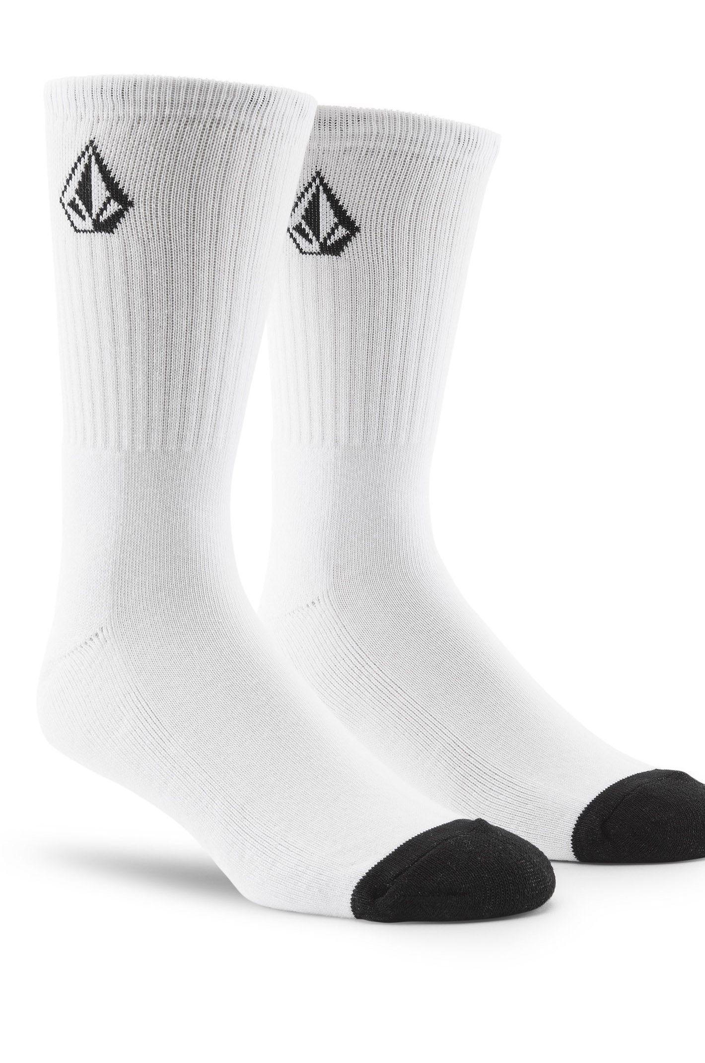 Volcom Socks FULL STONE 3PK White