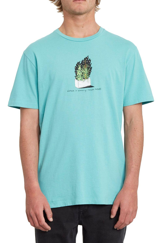 T-Shirt Volcom CINDER BLOCK LTW Mysto Green