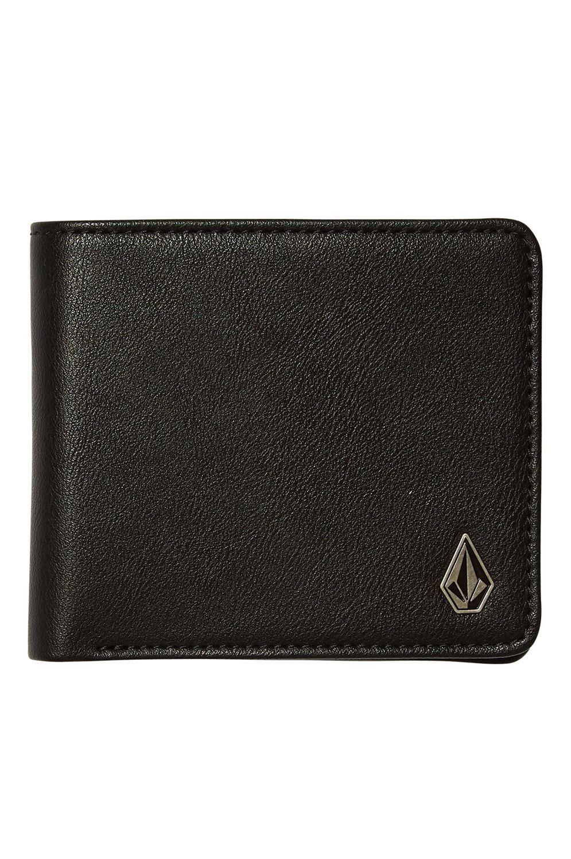 Volcom Wallet PU  SLIM STONE PU WLT S Black