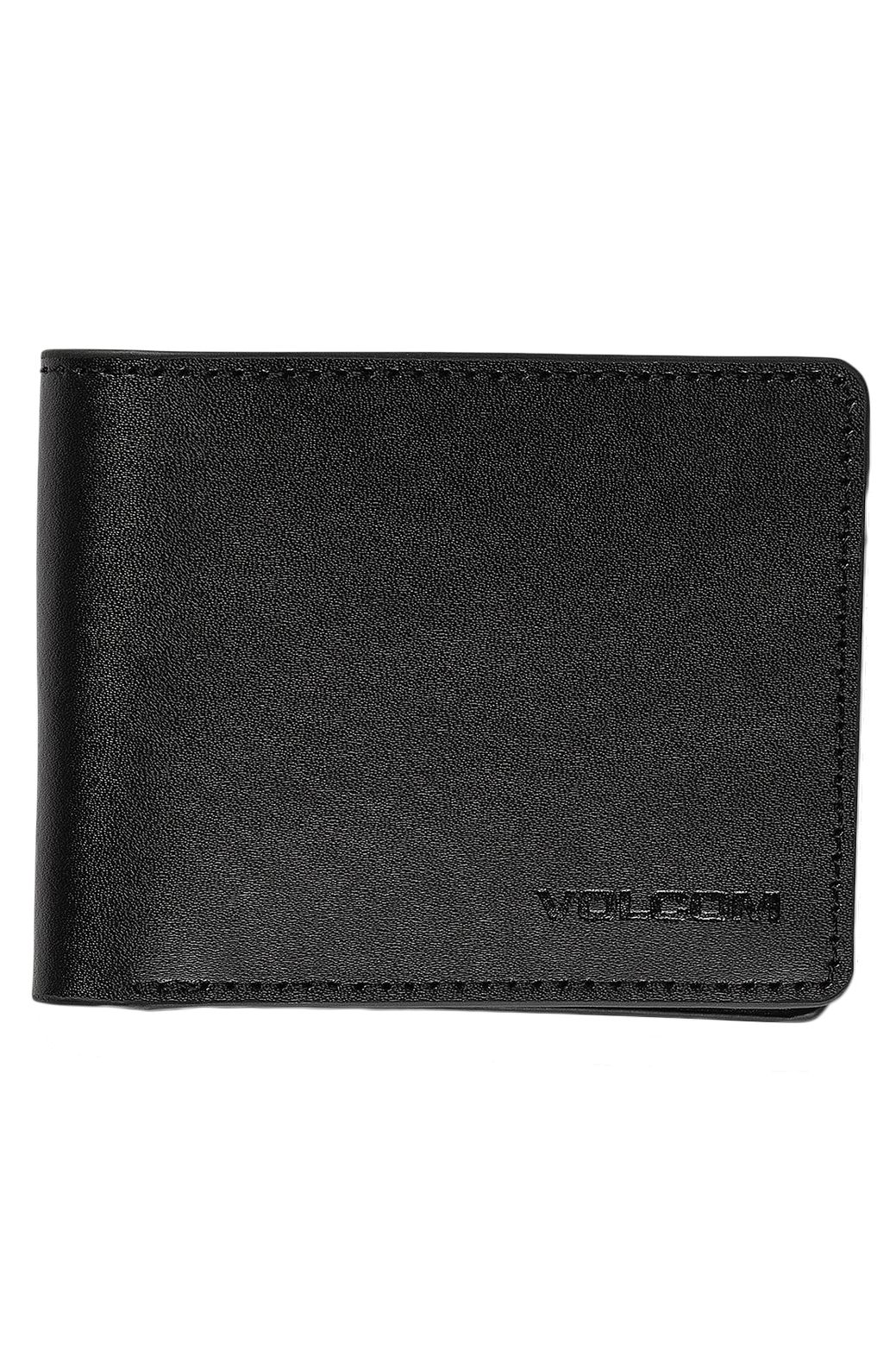 Volcom Leather Wallet EVERS LEATHER Black