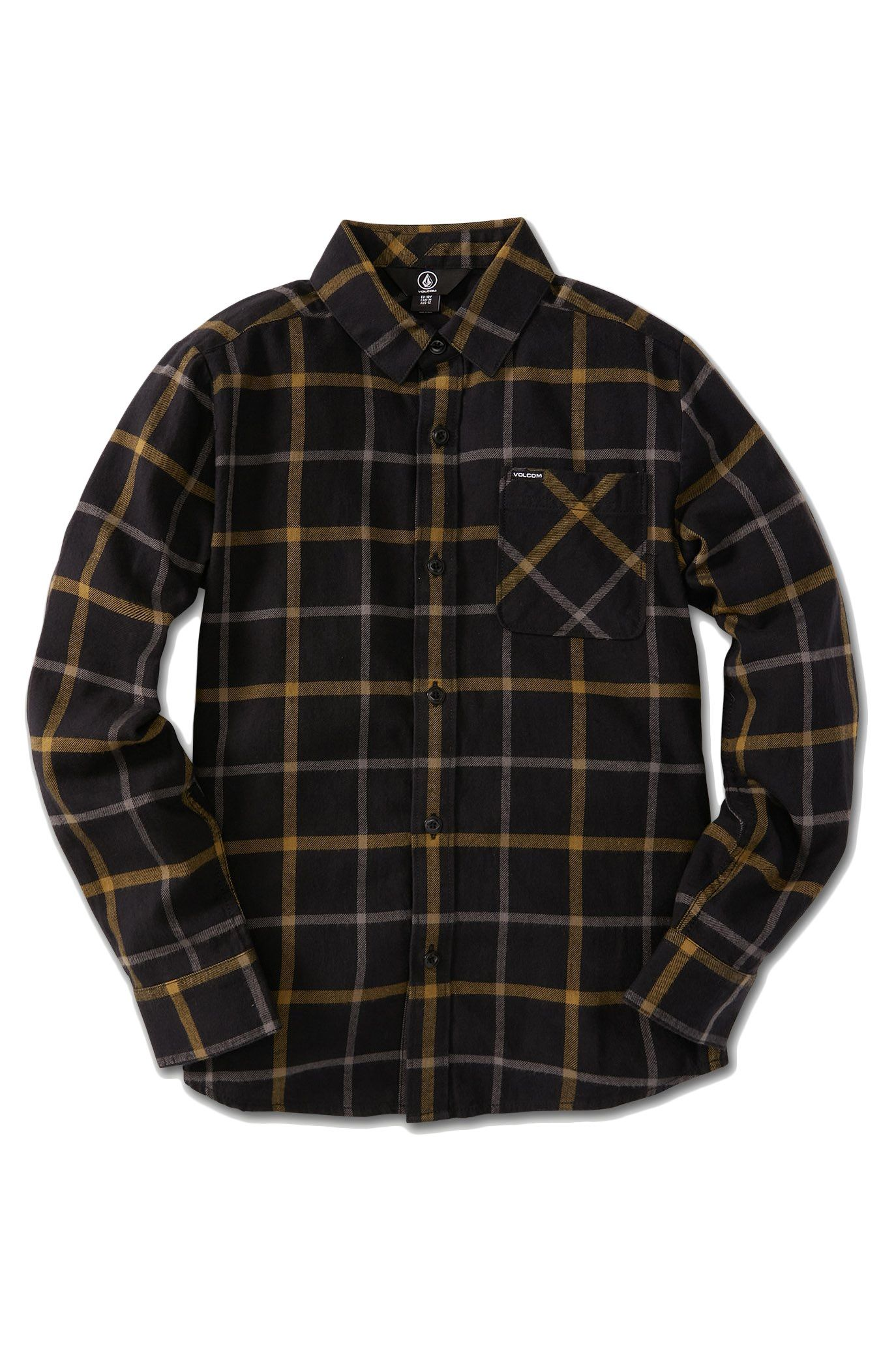 Camisa Volcom CADEN PLAID LS Black
