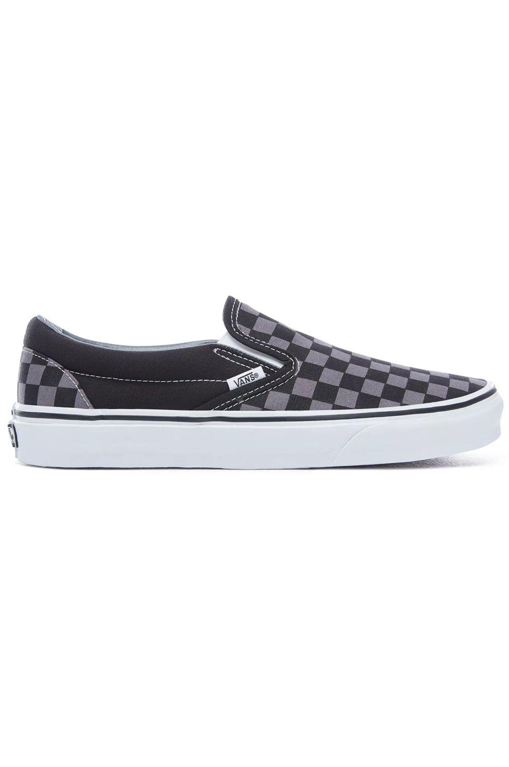 Tenis Vans CLASSIC SLIP-ON Black/Pewter Checkerboard