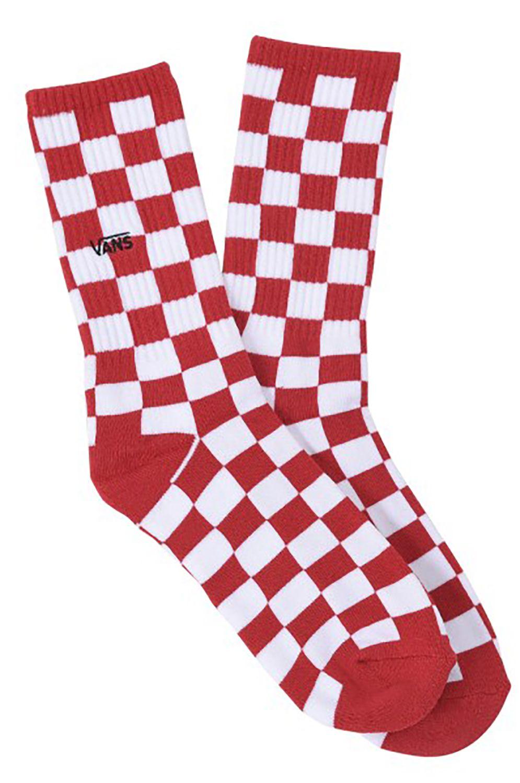 Vans Socks CHECKERBOARD CREW II (6.5-9, 1PK) Red-White Check