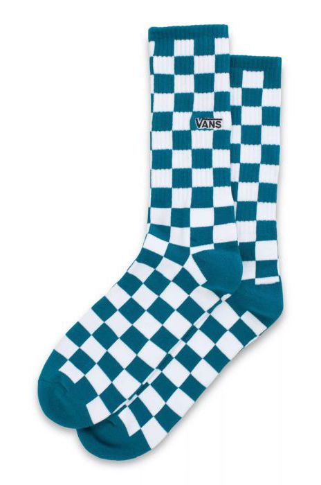 Vans Socks CHECKERBOARD CREW II (6.5-9, 1PK) Blue Coral