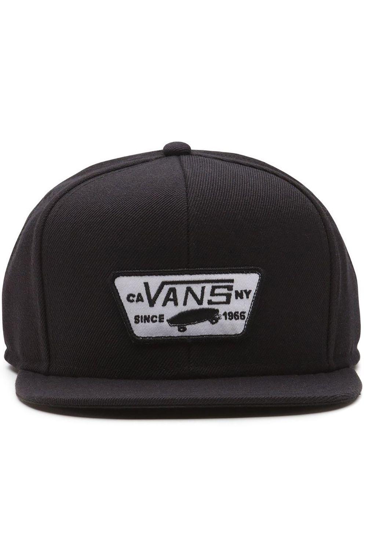 Bone Vans FULL PATCH SNAPBACK True Black