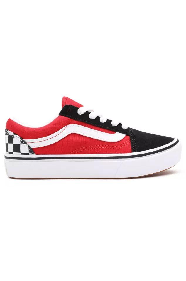 Vans Shoes JN COMFYCUSH OLD SKOOL (Checkerboard) Black/Red
