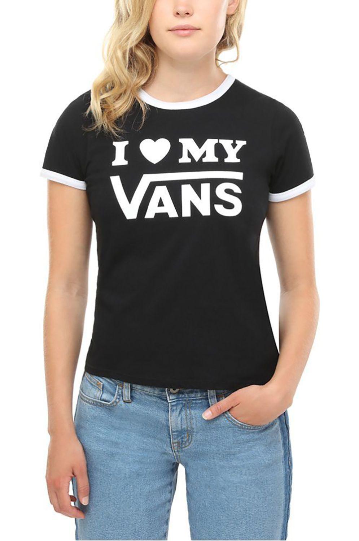 T-Shirt Vans LOVE RINGER Black/White