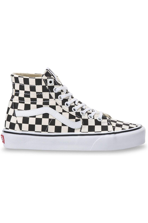Tenis Vans SK8-HI TAPERED (Checkerboard) Black/True White