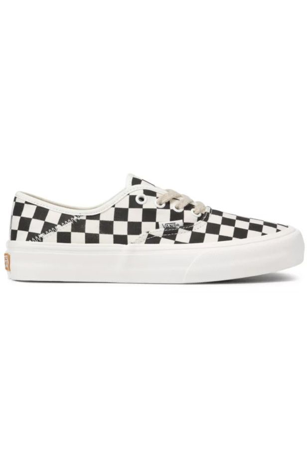 Vans Shoes UA AUTHENTIC SF (Eco Theory) Black Checkerboard/Marshmallow