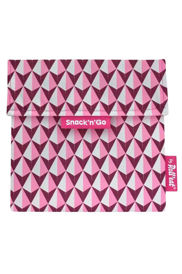 Roll'Eat Purse SNACK'N'GO TILES Pink