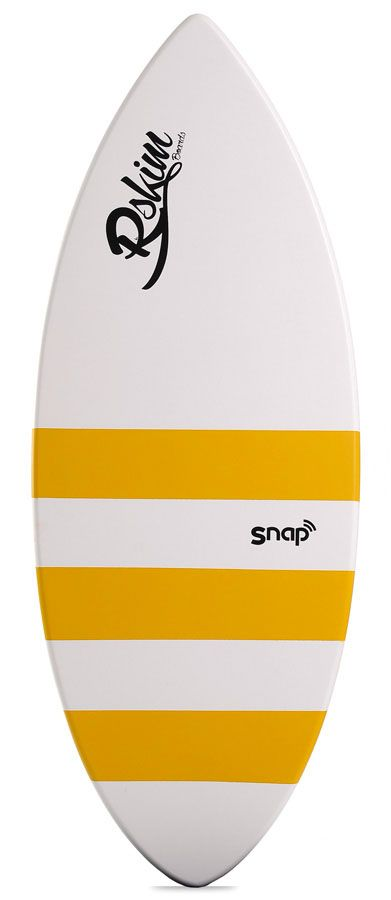 Prancha Skimming Reflex Skimboards SNAP Branco/Amarelo