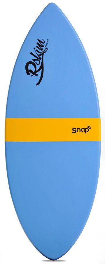 Prancha Skimming Reflex Skimboards SNAP Azul/Amarelo