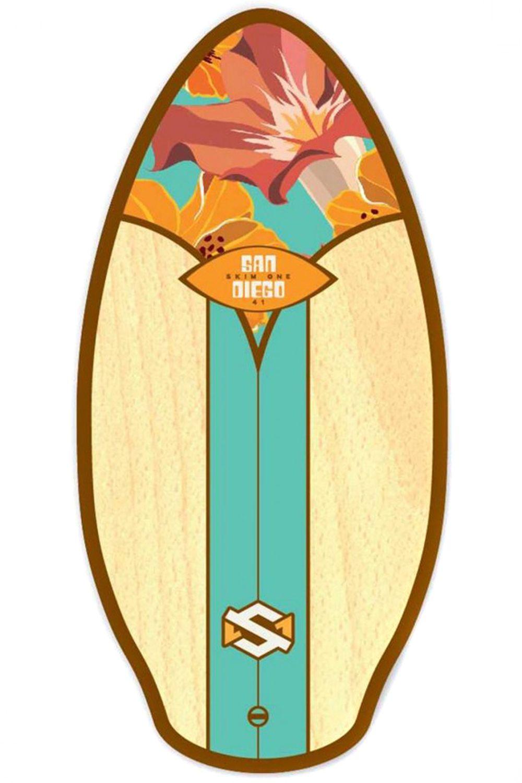 Prancha Skimming Skim One SKIM1 WOOD 41 San Diego Aqua/Oran/Brown