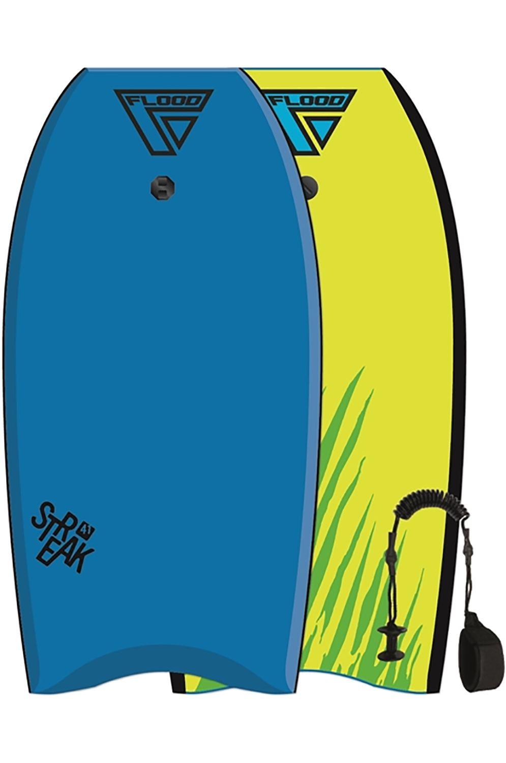Prancha Bodyboard Flood STREAK EPS Tiger Blue/Fluro Yellow