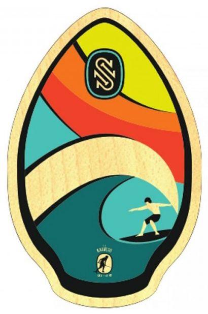 "Skim One Skimming Board 30"" WOOD Kauai Rainbow"