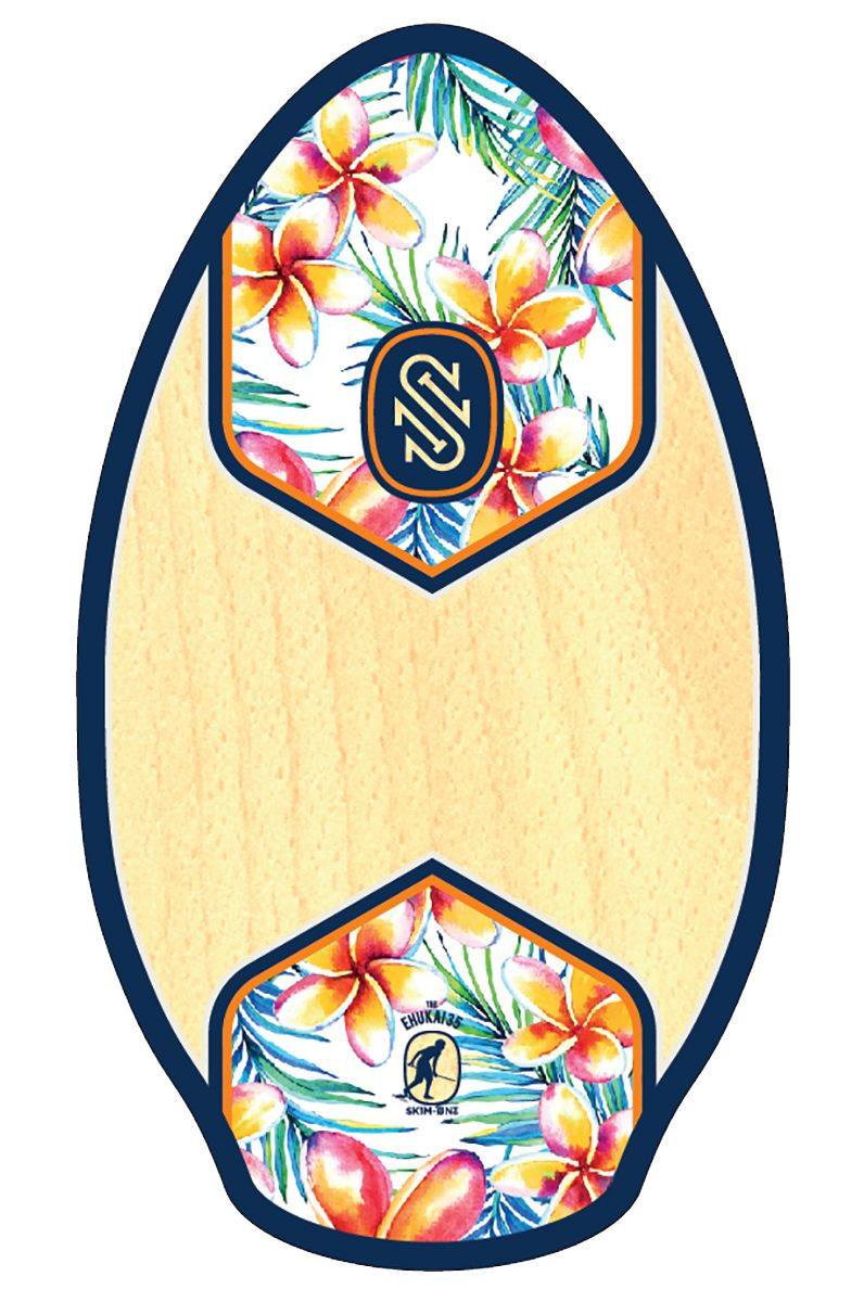 "Skim One Skimming Board 35"" WOOD Ehukai Navy/Orange"