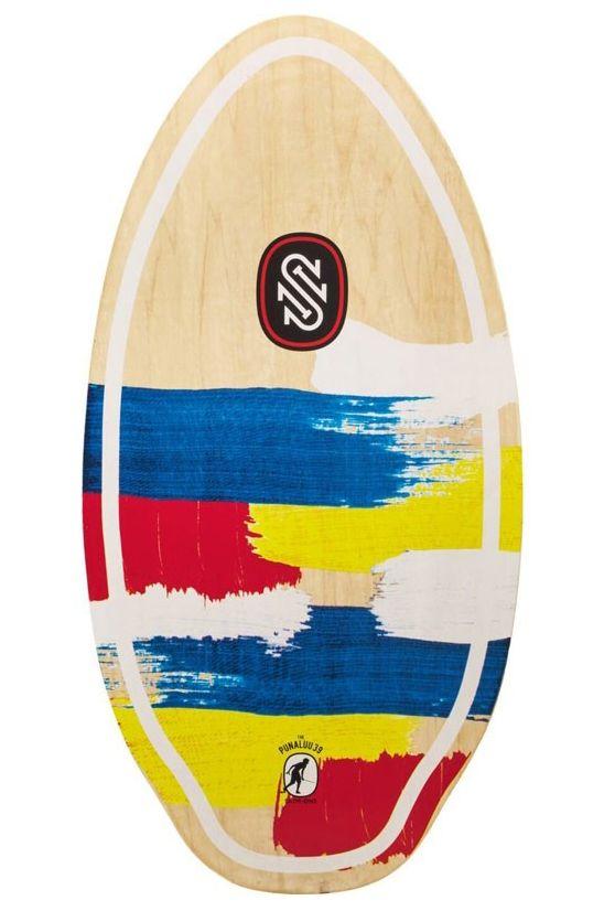 "Skim One Skimming Board 39"" WOOD Punaluu Primary"