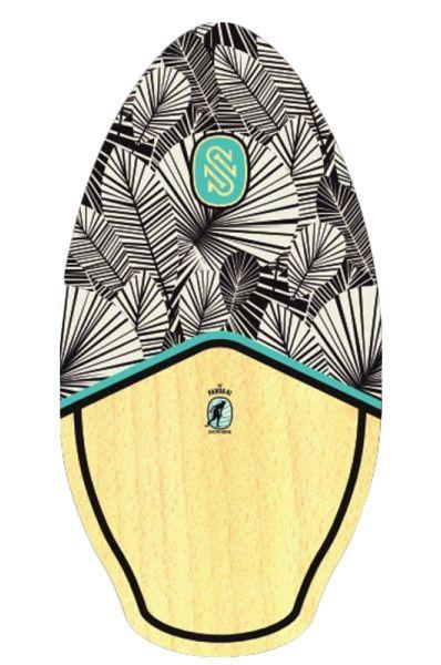 """Skim One Skimming Board 41"""" WOOD Pahoa Black/Teal"""
