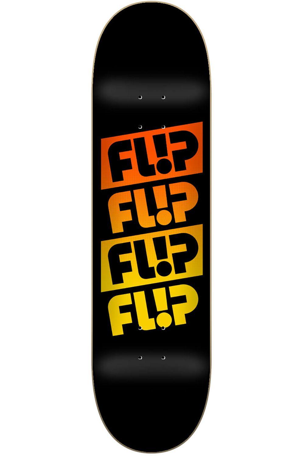 "Flip Skate Board 8"" X 31.5"" TEAM QUATTRO FADED Black"