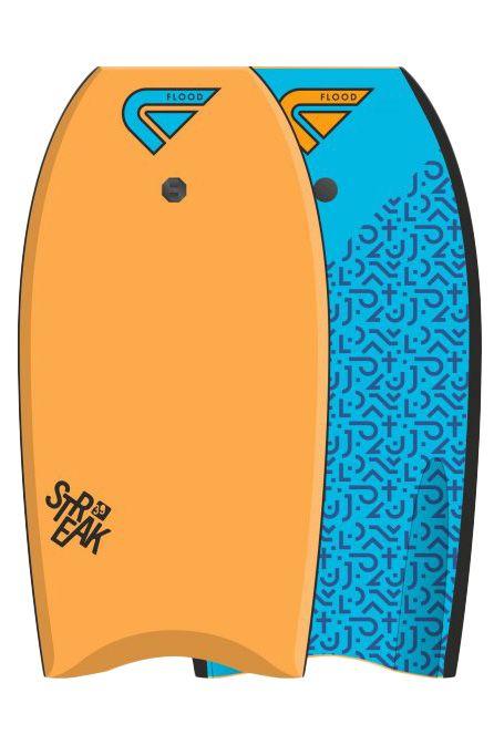 "Prancha Bodyboard Flood 33"" STREAK EPS Maori Orange/Blue"
