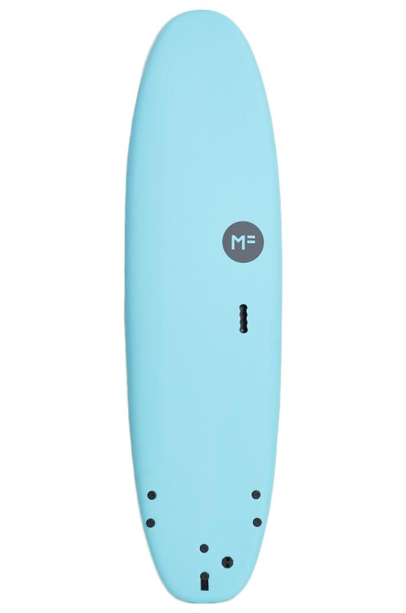 Prancha Surf MF Surfboards 6'6 SUPER SOFT EPS BLUE Squash Tail - Color FCS II 6ft6