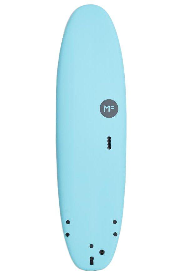 Prancha Surf MF Surfboards 7'6 SUPER SOFT EPS BLUE Squash Tail - Color FCS II 7ft6