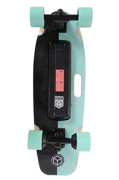 """Volta Skate 28"""" GOOBER VOLTA E-SKATE W// HANDLE Aqua"""